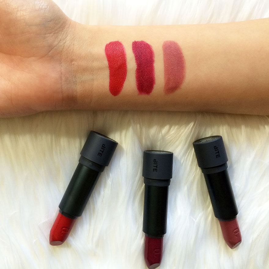 THE AMUSE BOUCHE LIPSTICK SWATCHES
