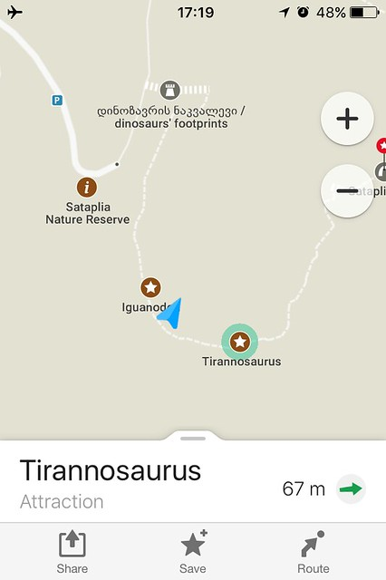 There is no T Rex footprints.'