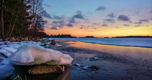 winter sunset sea sun ice nature espoo finland landscape sundown microsoft talvi xl meri luonto 950 jää auringonlasku aurinko uusimaa lumia pureview iphoneography lumia950 lumia950xl
