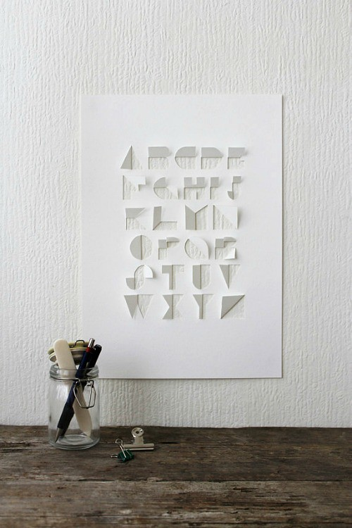 Handcut Paper Alphabet by Gina Hollingsworth