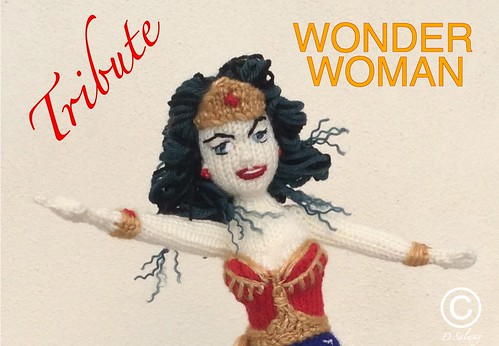#wonder #woman #tribute #knitted #doll #dolls #celeb #denise TRIBUTE