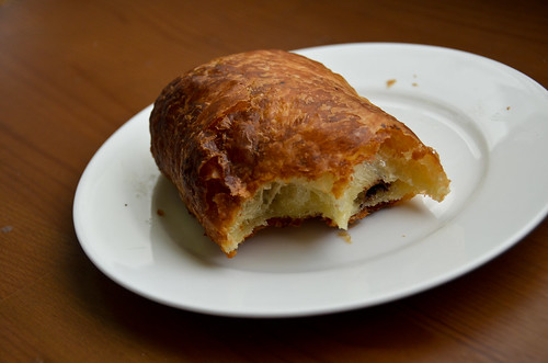 Milk Pail Market Frozen Chocolate Croissants - cooked for 13 minutes and half eaten, delicious!