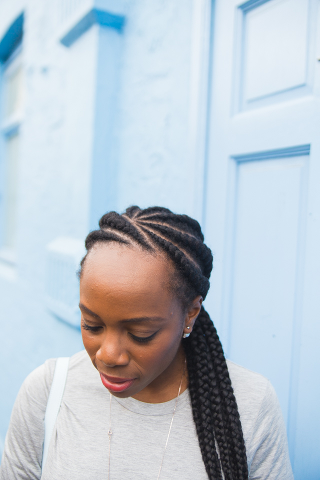 Ghana braids chunk cornrows bloggers