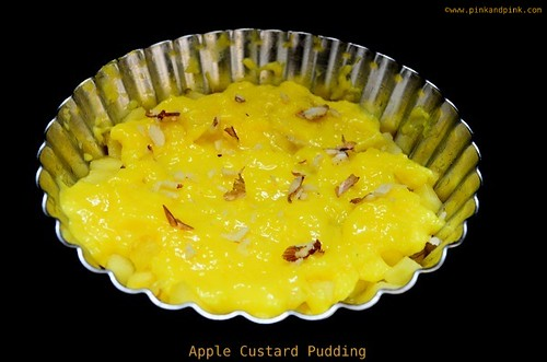 Apple Custard Pudding
