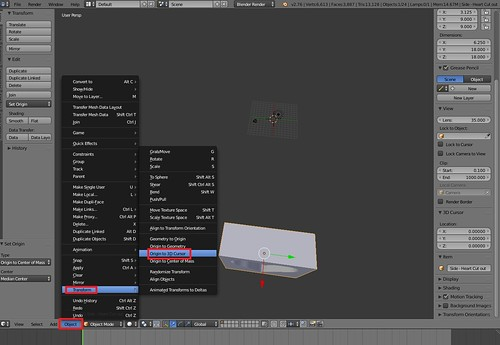 Blender - Origin to 3D Cursor