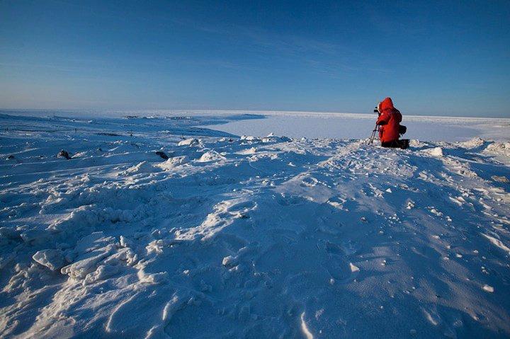 Լևոն Սևունց<br>Լուսանկարը` Դեյվ Բրոշայի, էլսմիր կղզի, Կանադայի ամենահյուսիսային կետը, 2006