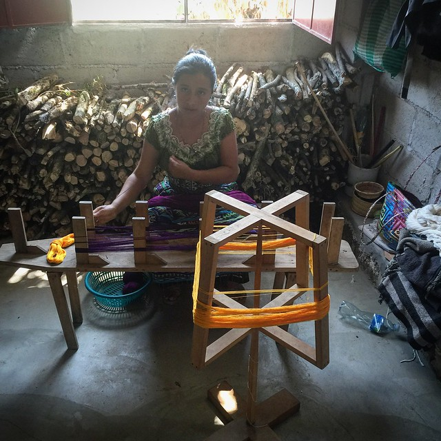 Visiting the weavers collective