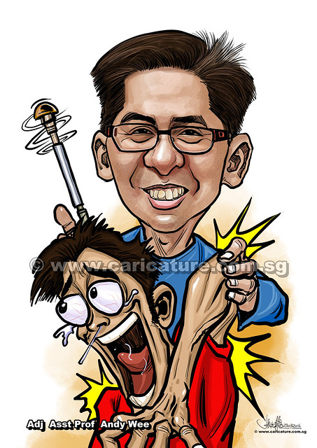 orthopedic surgeon Adj  Asst Prof Andy Wee digital caricature (watermarked)