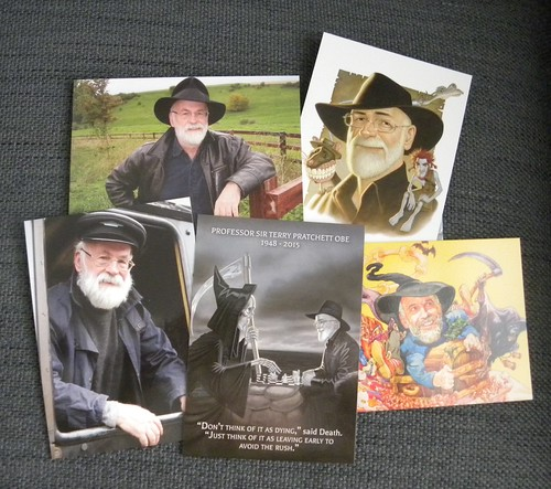 Terry Pratchett postcards