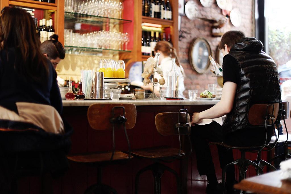 New York krok upp barer