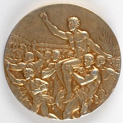 Melbourne 1956 Summer Olympics Gold Winner's Medal obverse