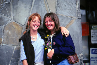Barbara Foshee and Patty Mooney, Leysin, Switzerland, 1980