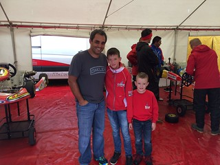 Juan Pablo Montoya Easykart Weltfinale mit Leon und Lewis Päper