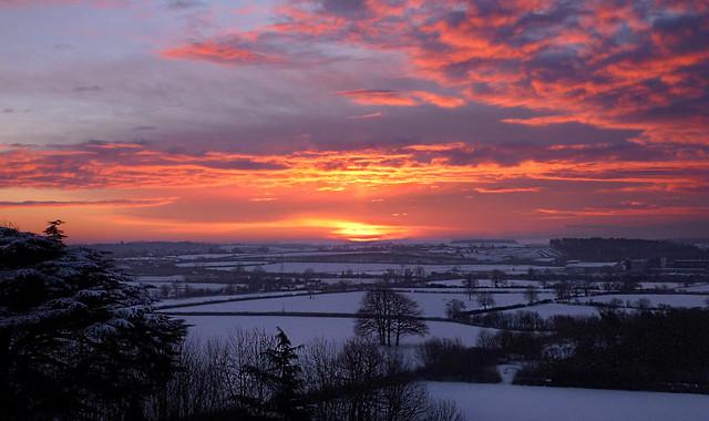 A Worcestershire winter sunrise