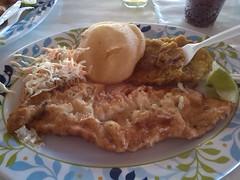 Pescado Frito en Punta la Cruz Mochima