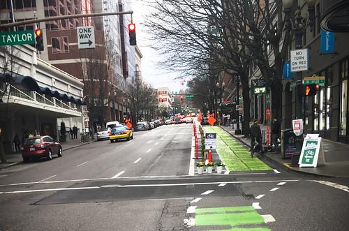 Pop-up bikeway on SW Broadway-8.jpg