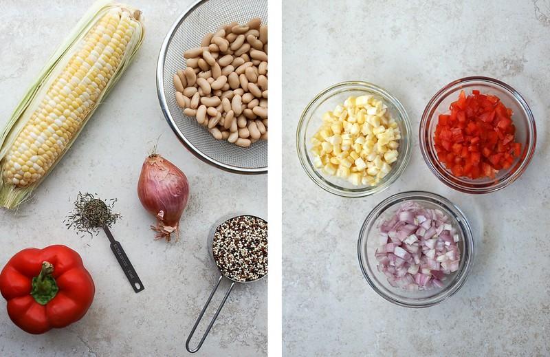 Quinoa & White Bean Veggie Burgers: ingredients
