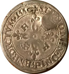 Counterstamped 1550 French Coin of Louis XIII reverse