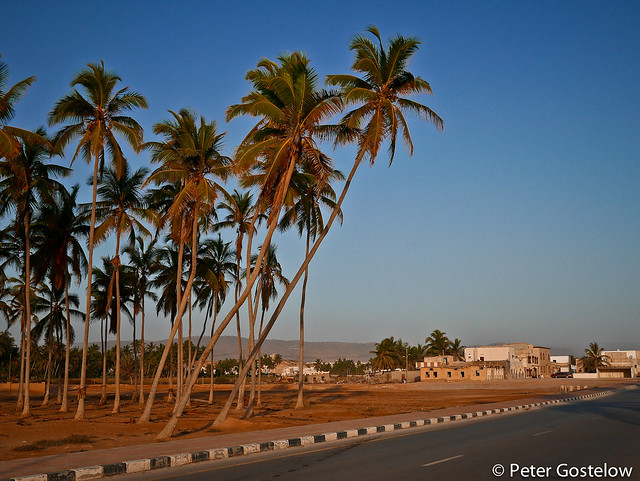 Taqah beach front