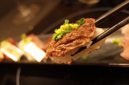 aburi horsemeat sushi