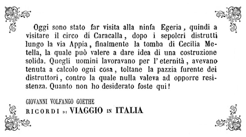 Goethe - Cecilia Metella
