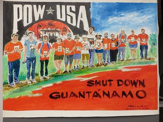 """Shut down Guantánamo"" poster"