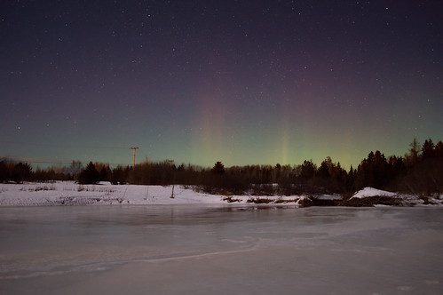 Delicate Aurora near Miramichi NB Canada Feb 17/18 2016