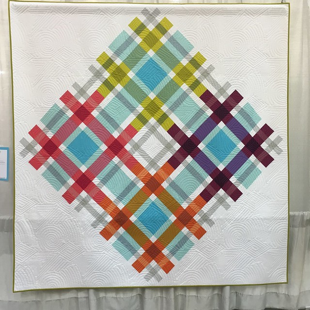 """Plaid on Point"" by Jennifer Jones Rissotti of Kingsburg, CA.  Quilted by Darby Myer"
