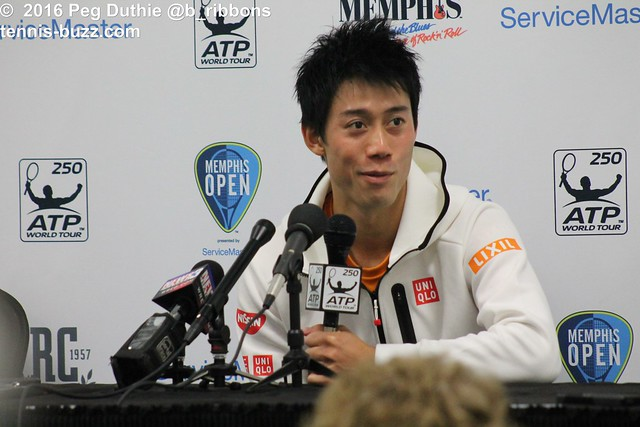 Nishikori press conference