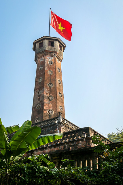 Flag Tower of Hanoi, Vietnam ハノイ、国旗掲揚塔