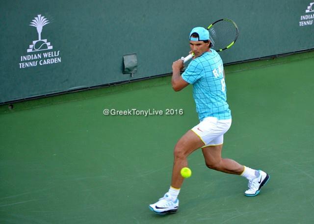 Rafael Nadal at practice
