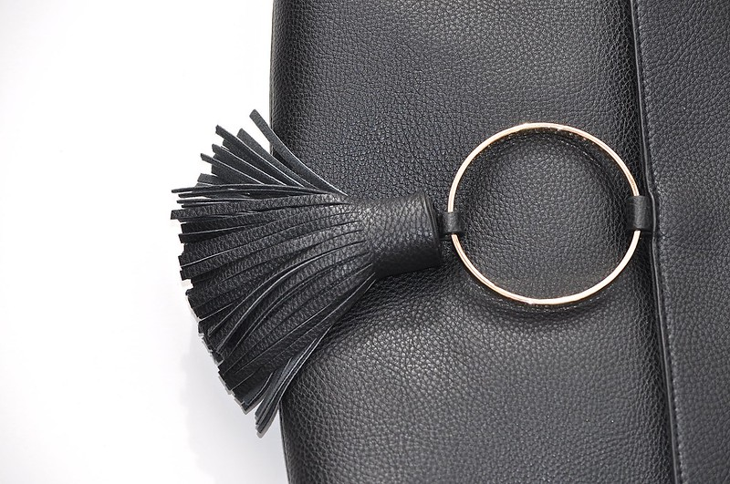 Asos Black circle clutch bag 3