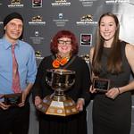 Jagdeesh Uppal, Christine Bovis-Crossin, Taiysa Worsfold (Barrnsley Award)