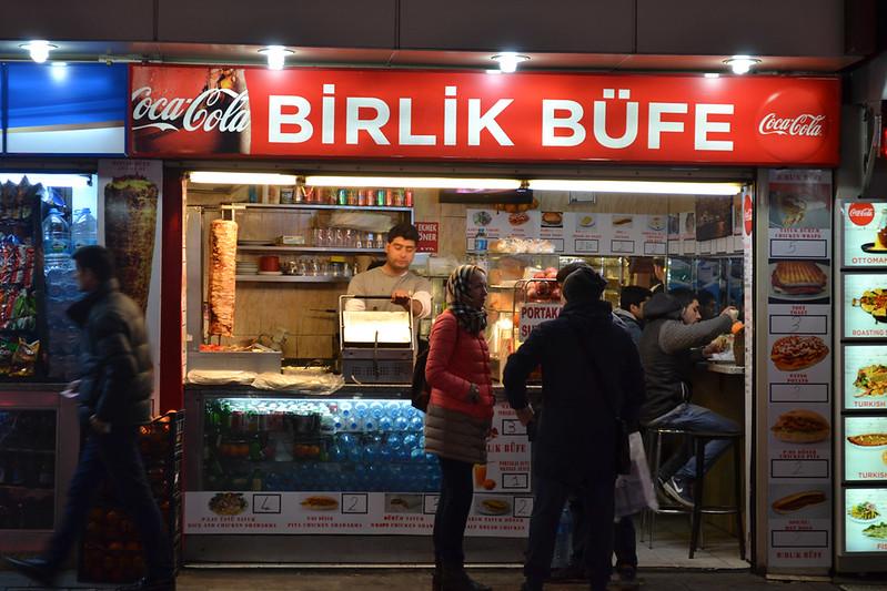 Puesto callejero de Kebab, los más ricos.