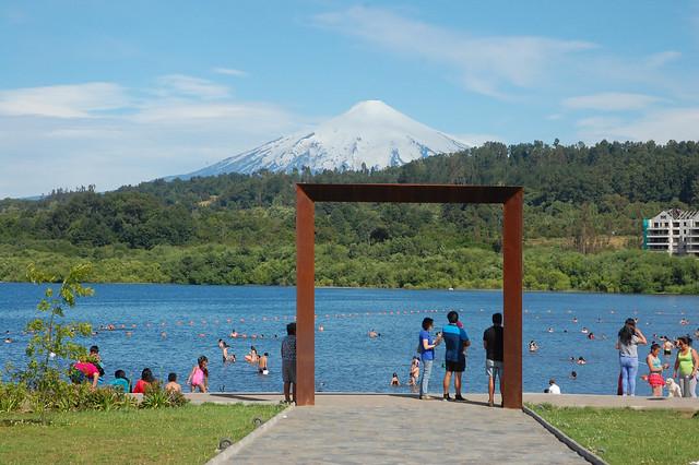 Views of Lago Villarica from Villarica, Chile