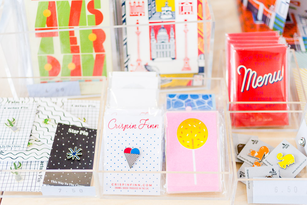 franks stationery shop cute pin badges