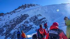 Przed lodowcem Gran Paradiso.