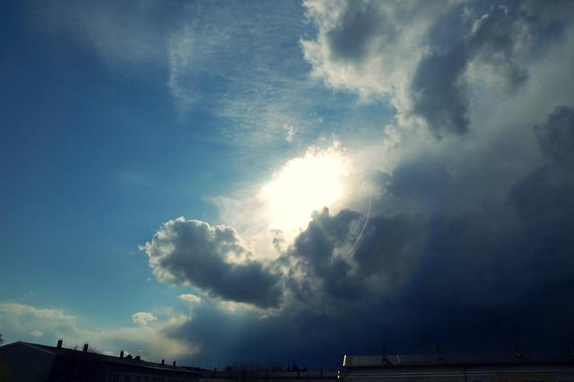 un orage arrive
