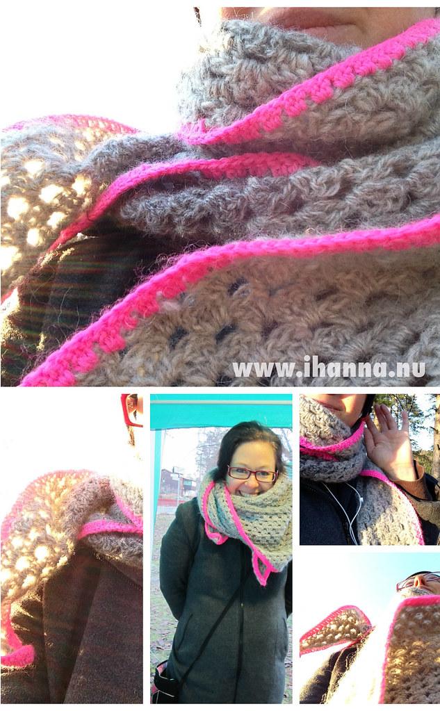 iHanna wearing her new shawl