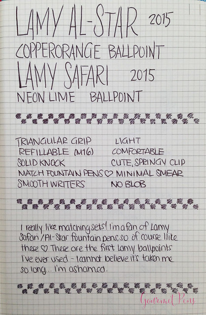 Review Lamy Safari & AL-Star Ballpoint @GoldspotPens @Lamy @LamyUSA (10)