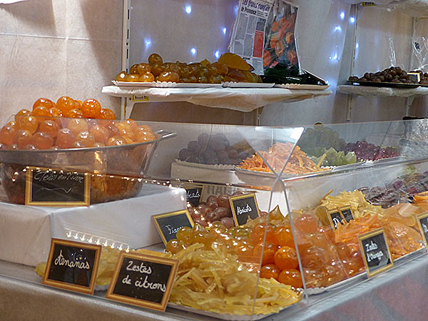 fruits confits en Avignon