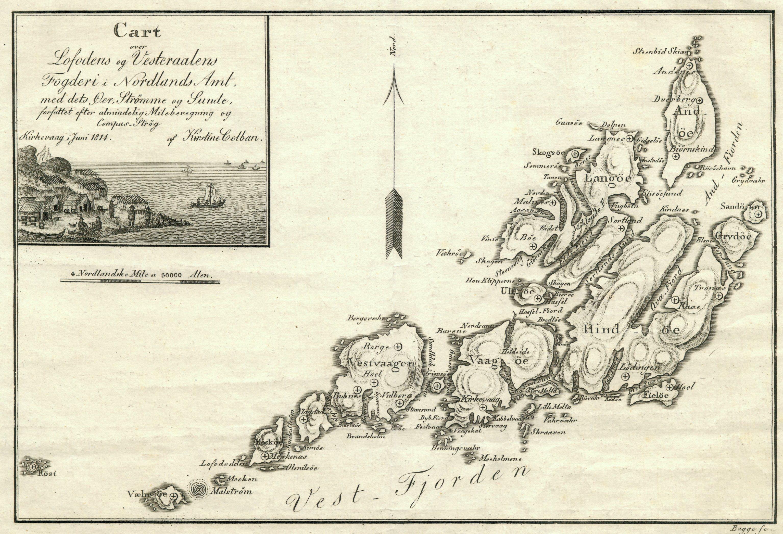 Kart over Lofoten og Vesterålen