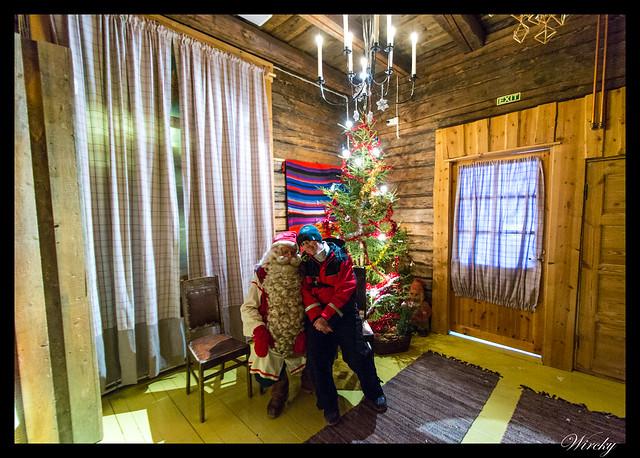 Excursiones Laponia finlandesa invierno - Laponia motos nieve renos pueblo papa noel - Visitando a Papa Noel