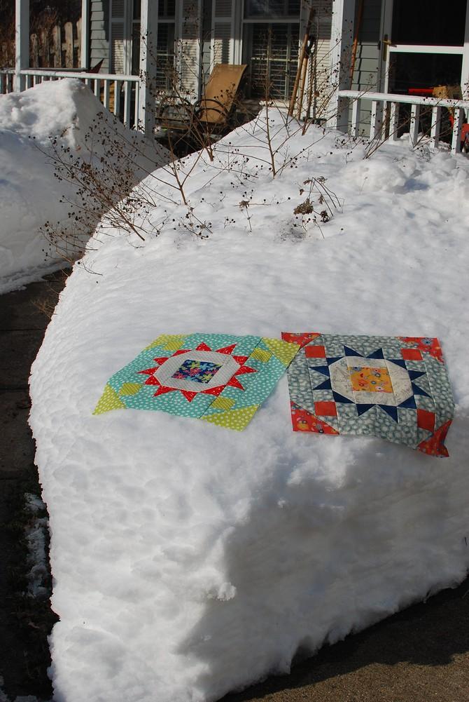 pat sloan block 2 in the snow