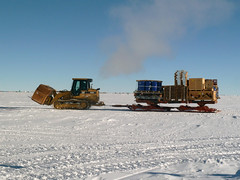 Cargo returning to South Pole Station