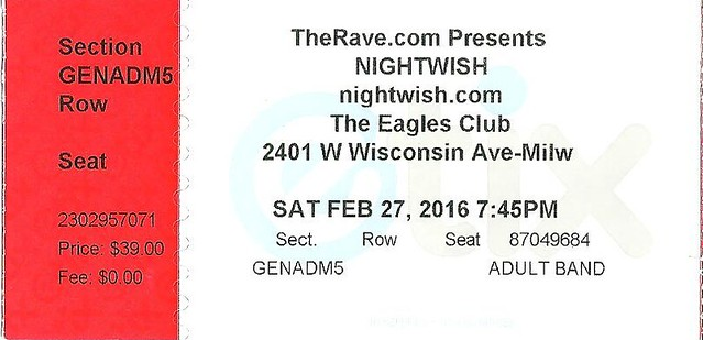 20160227 Nightwish Stub