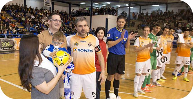 El fútbol sala cartagenero recaudó más de 3 mil euros para Andresito