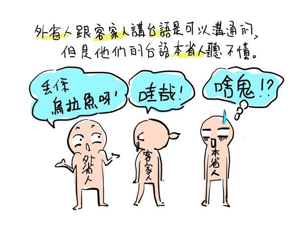 規房日記 外省人跟客家人講台語