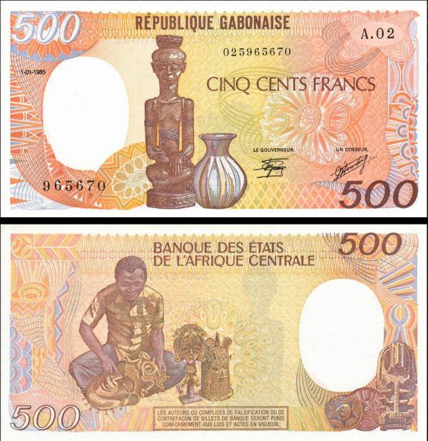 500 Francs Gabon 1985, P8 UNC