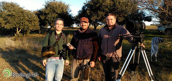 Raúl Birding con Joaquín Gordillo y Carlos Pérez de 1080lineas